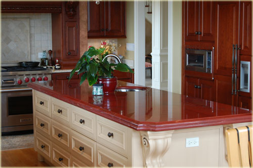 Red Granite Kitchen Countertops : A brief introduction to red aswan granite less