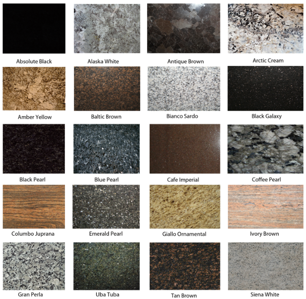 Free Granite Colours With Different Types Of Granite Countertops