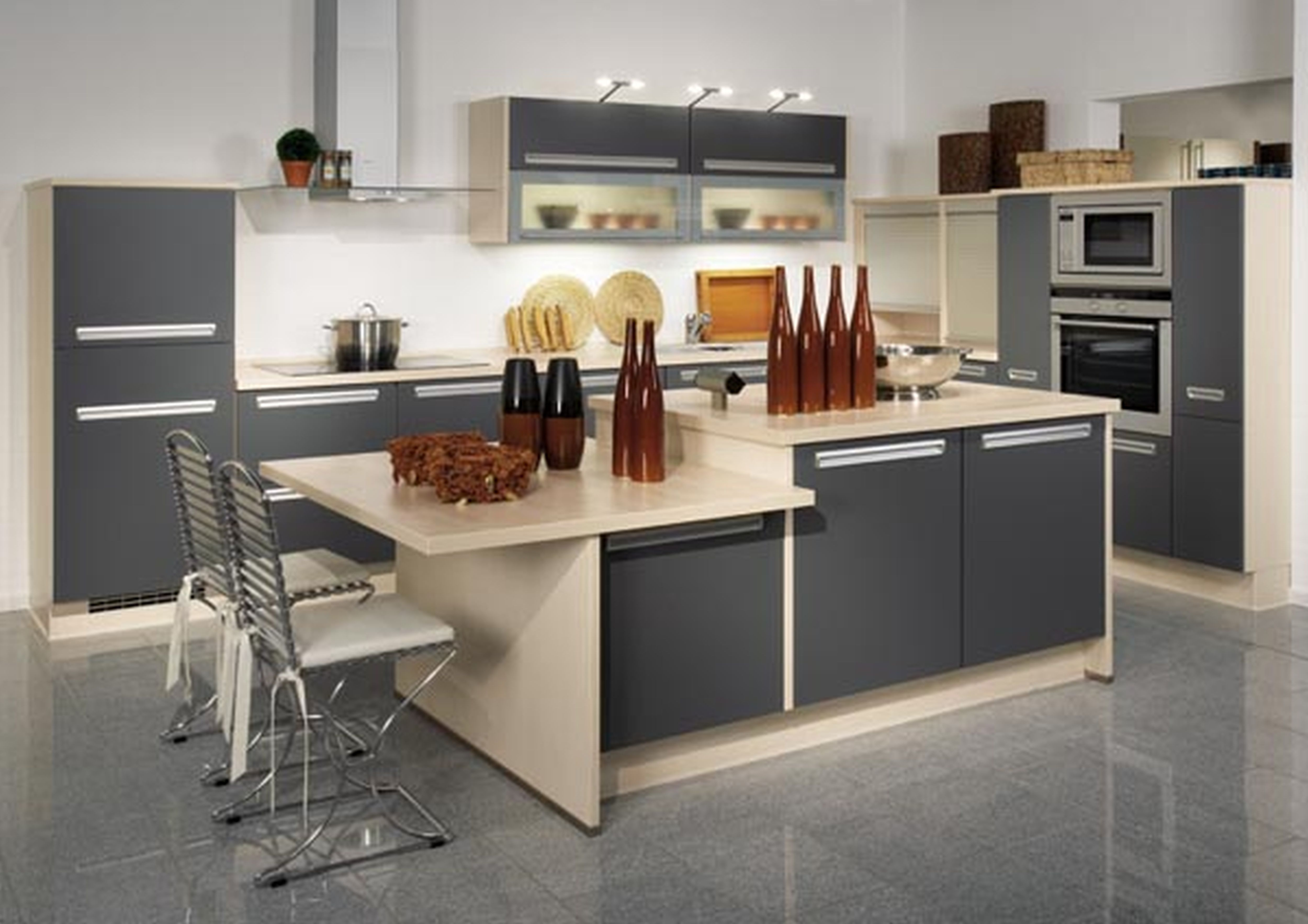 Bring your kitchen alive with colours granite4less blog for Simple white kitchen designs